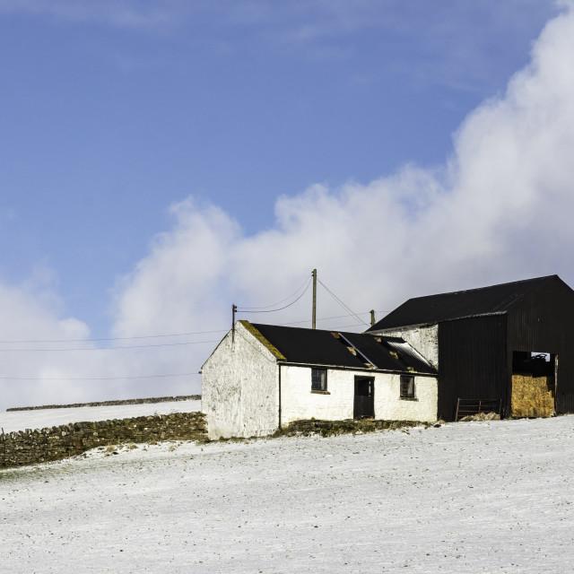 """""""Teesdale barn"""" stock image"""