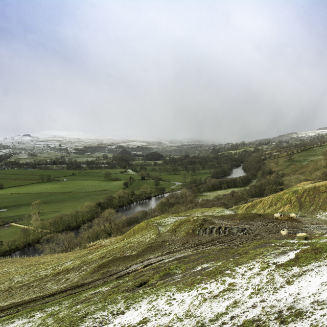 """""""Approaching snow storm, Teesdale"""" stock image"""