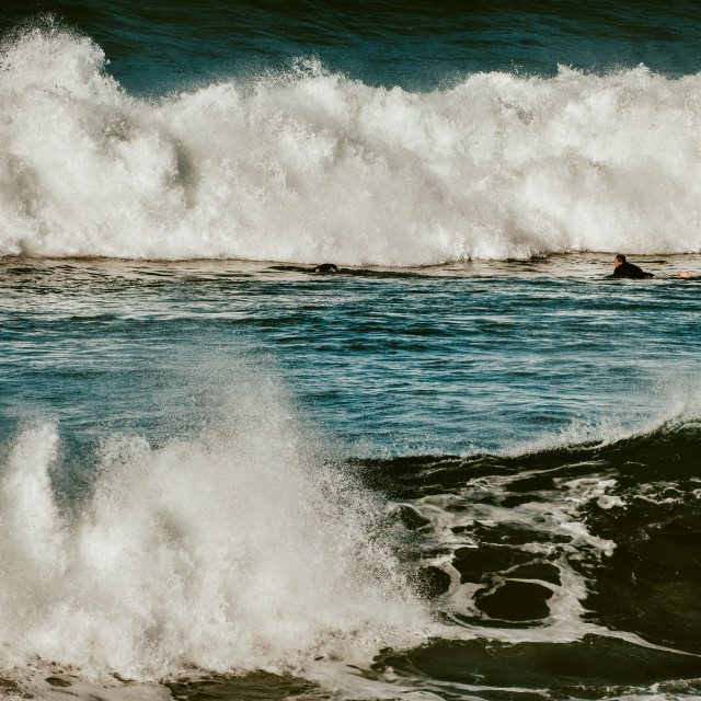 """Fighting the Ocean"" stock image"
