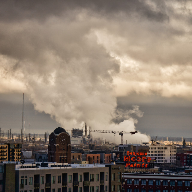 """""""Industrial Clouds"""" stock image"""
