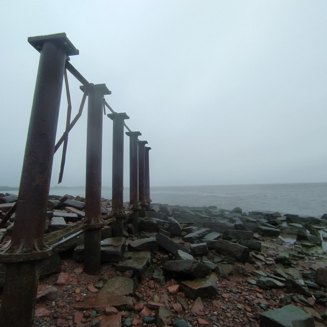 """""""Metalwork by the Solway 2"""" stock image"""