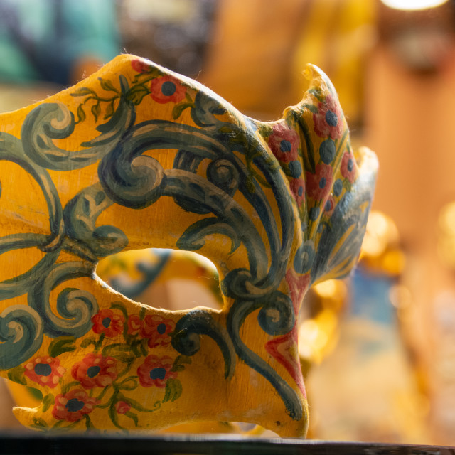 """""""Venetian Half Mask"""" stock image"""