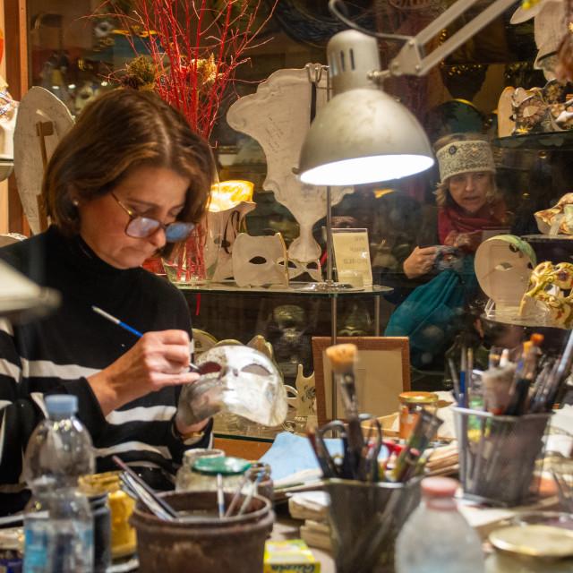 """Venetian Mask Painter"" stock image"