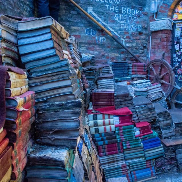 """Book Stairway - Venice"" stock image"