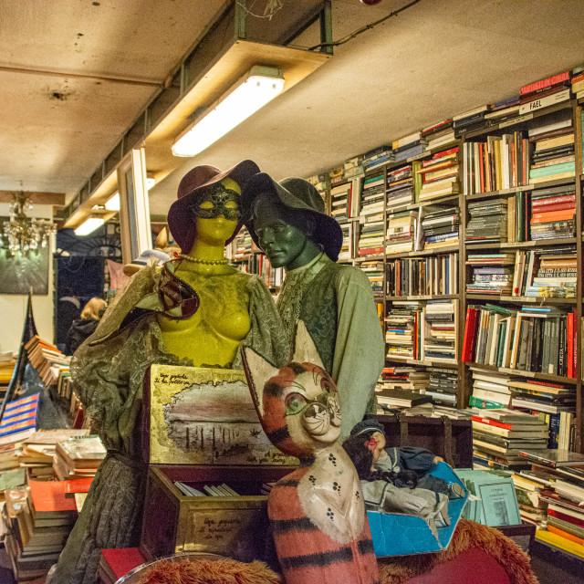 """""""Libreria Acqua Alta in Venice"""" stock image"""