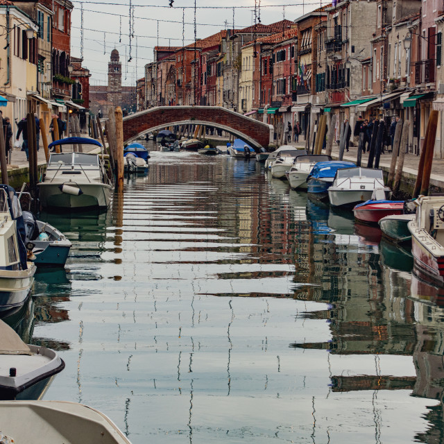 """""""Rio dei Vetrai, Murano"""" stock image"""