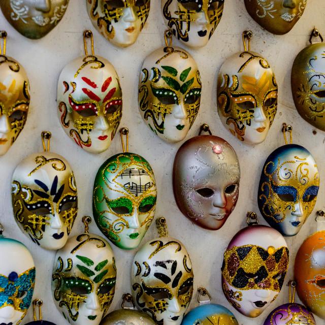 """Wall of Masks"" stock image"