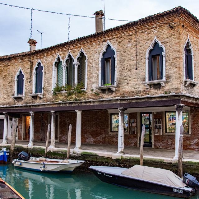 """Murano Canalside"" stock image"