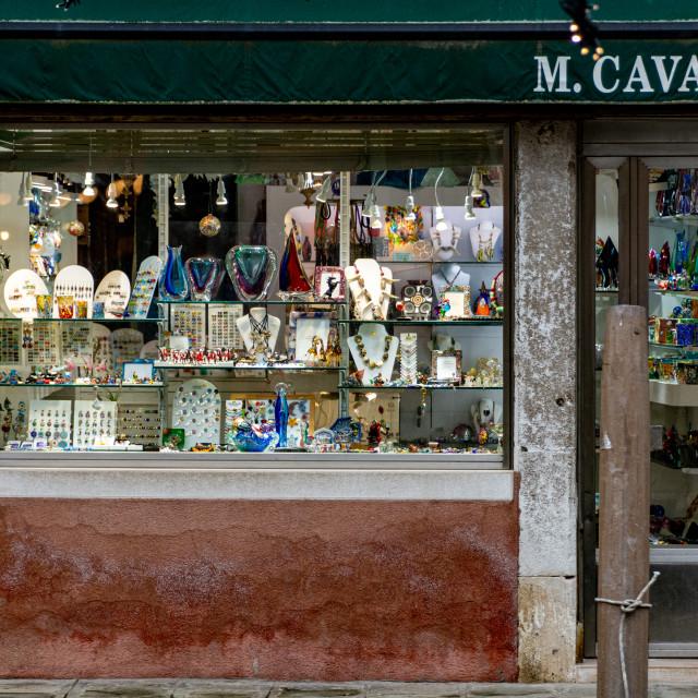 """Murano Glass Shop"" stock image"