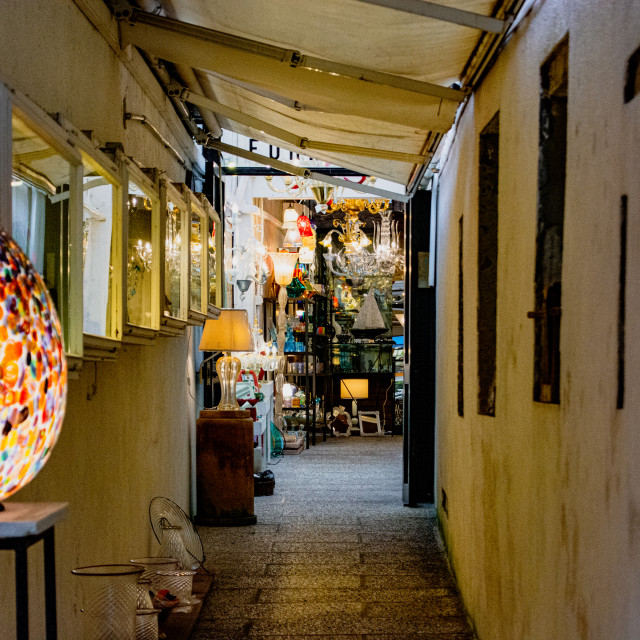 """Murano Side Street"" stock image"