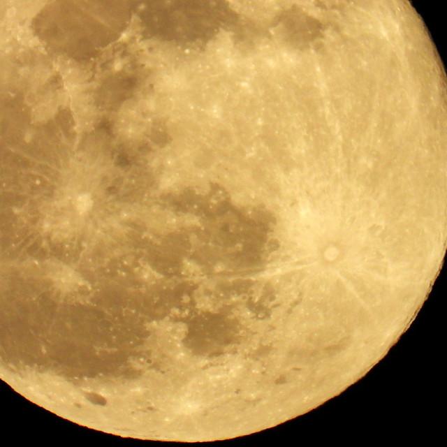 """Full 'Wolf' Moon"" stock image"