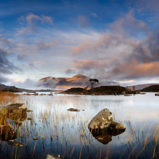 """Rannoch Moor at Sunrise"" stock image"