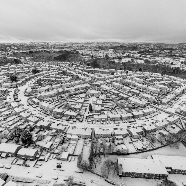 """Bristol Snowy Houses"" stock image"
