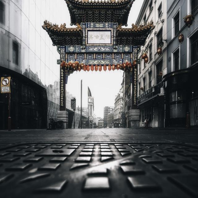 """China Town, London"" stock image"