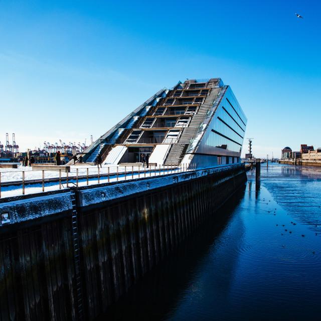"""Dockland an der Elbe"" stock image"