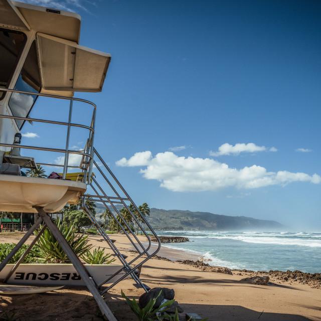 """""""Haleʻiwa Beach"""" stock image"""