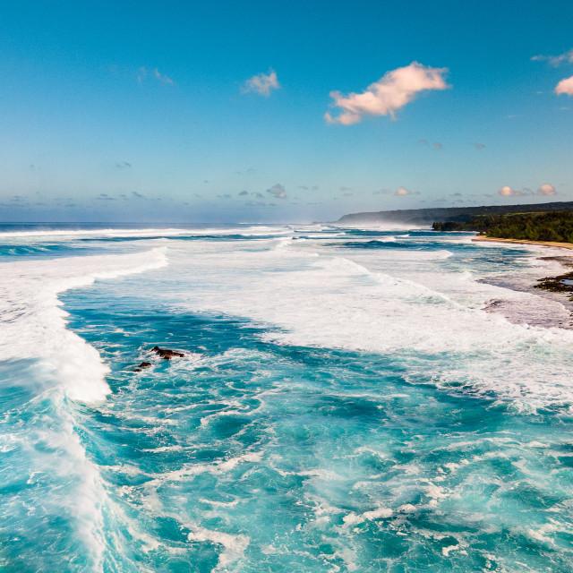 """North Shore Waves"" stock image"