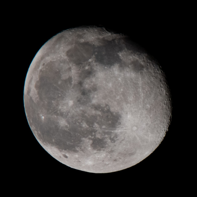 """A waning gibbous moon"" stock image"