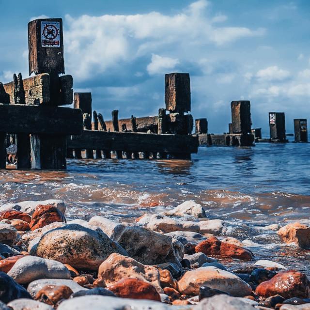 """Hunstanton Beach, Norfolk, UK."" stock image"