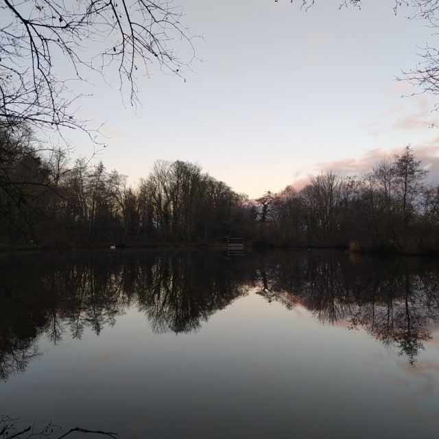 """""""Mirror lake"""" stock image"""