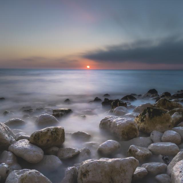 """Birling Gap Sunset"" stock image"