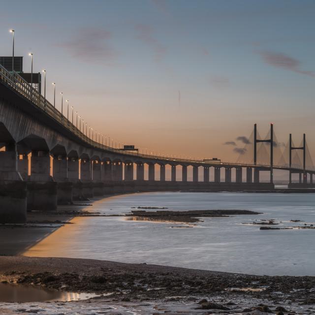 """Severn Bridge"" stock image"