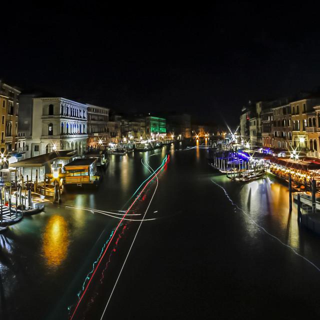 """Venice at Night"" stock image"