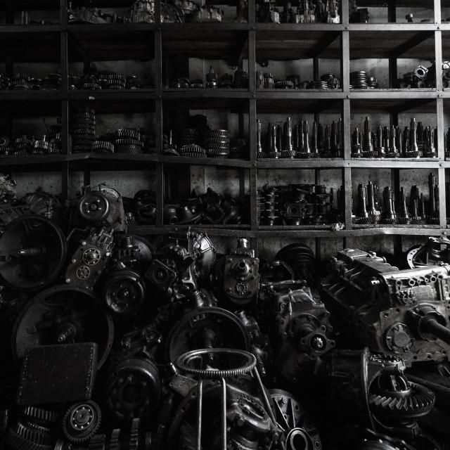 """Mechanic store in Bangkok"" stock image"
