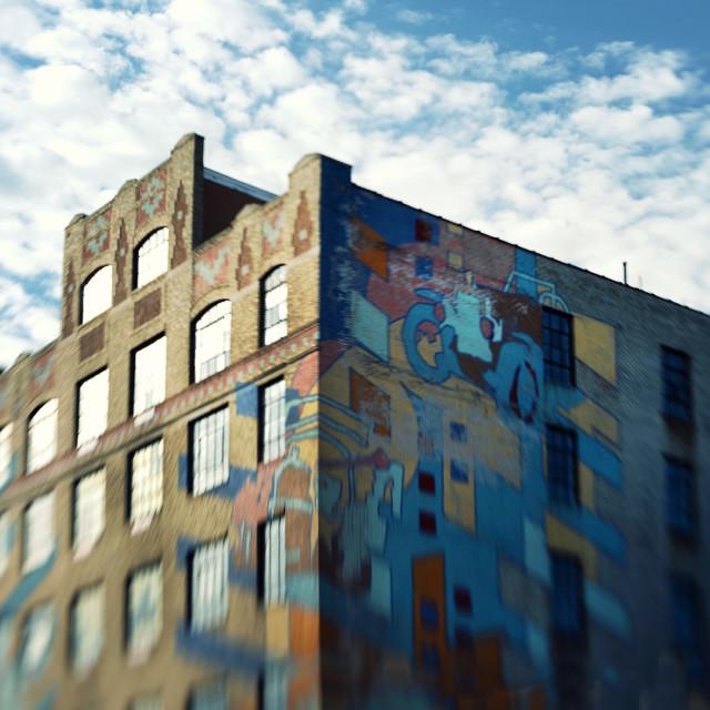 """Mural Art, Brooklyn New York"" stock image"