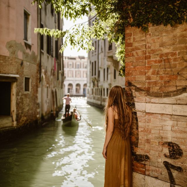 """""""Venice Canal View"""" stock image"""