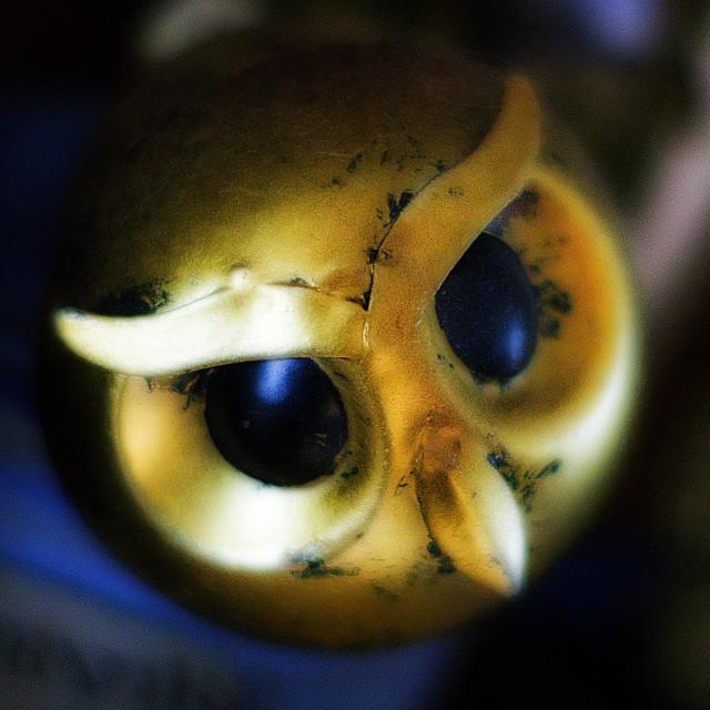 """Owl Head Wine Bottle Stopper"" stock image"