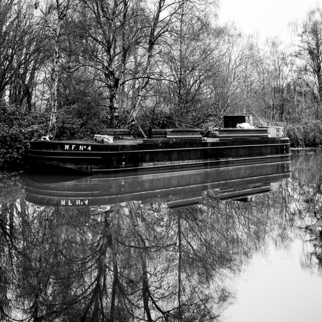 """""""My Manchester - Bridgewater Canal Barge W.F. No 4"""" stock image"""