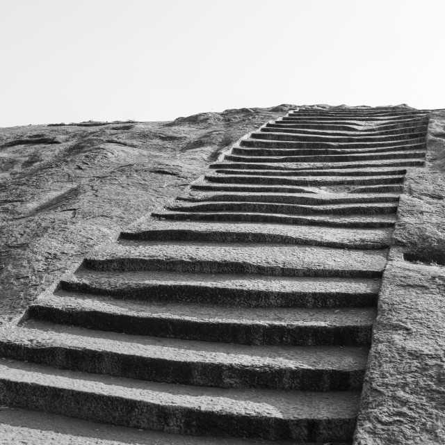 """""""Stairway cut in stone"""" stock image"""
