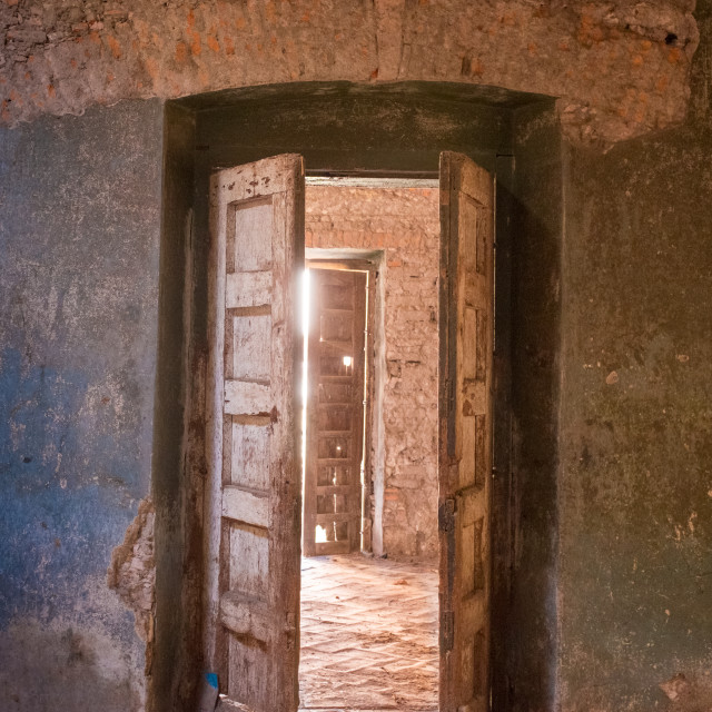 """""""An abandoned Ex Hacienda in Mexico"""" stock image"""