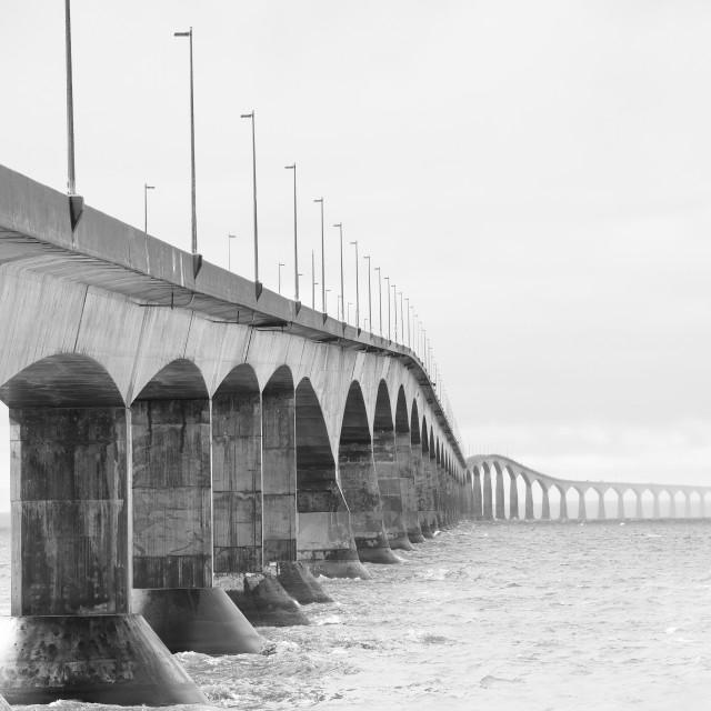 """Bridge at Prince Edward Island, Canada"" stock image"