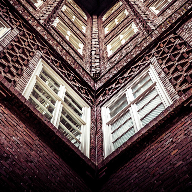 """""""""""Embroidery Work"""" - Close up of old office building in Hamburg, Germany"""" stock image"""