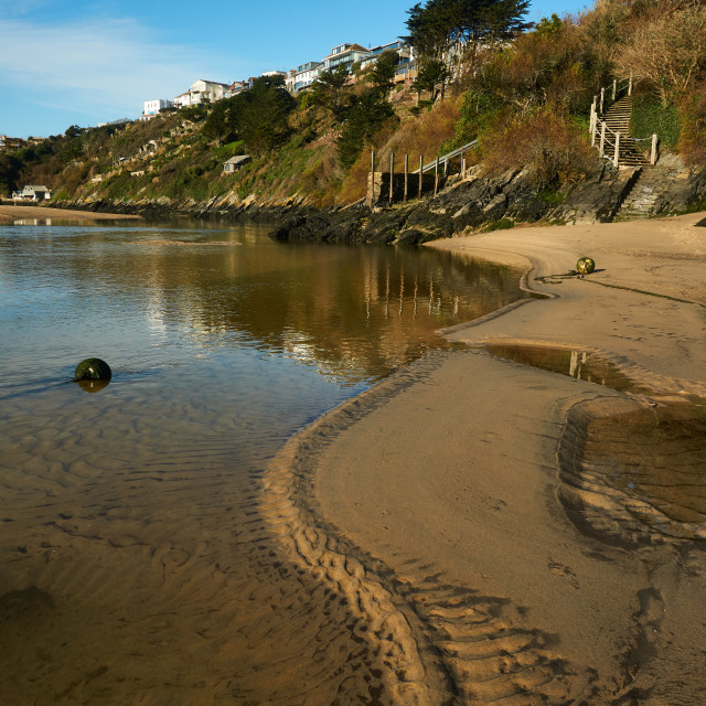 """""""The Gannel at low tide."""" stock image"""