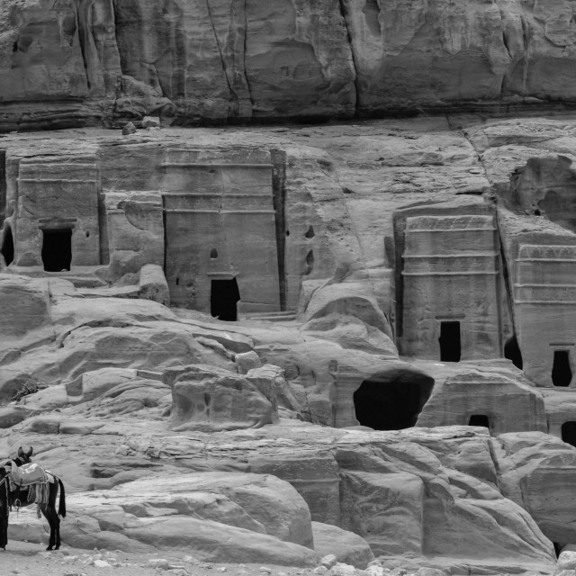 """Petra Dwellings"" stock image"