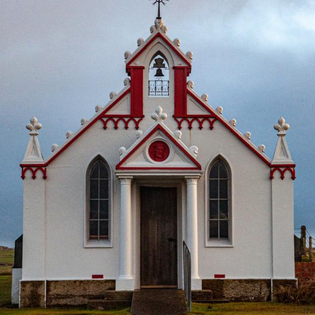 """""""Italian Chapel at Lamb Holm"""" stock image"""