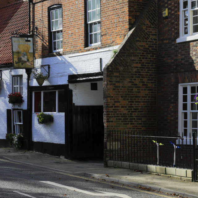 """""""The Wheatsheaf Pub, Louth town, East Lindsey, Lincolnshire, England; UK"""" stock image"""