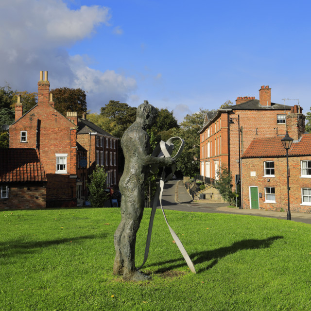 """""""Statue on the village green, Louth town, East Lindsey, Lincolnshire, England; UK"""" stock image"""