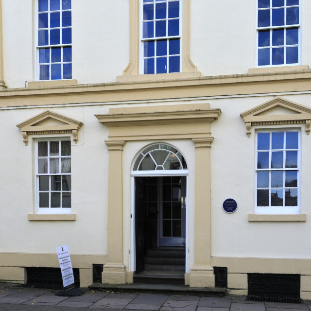"""""""The Mansion House, Louth town, East Lindsey, Lincolnshire, England; UK"""" stock image"""