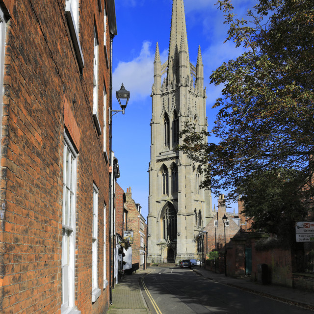 """""""St James church, Louth town, East Lindsey, Lincolnshire, England; UK"""" stock image"""