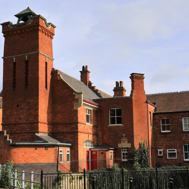 """""""The Old Fire Station, Sleaford market town, Lincolnshire, England, UK"""" stock image"""
