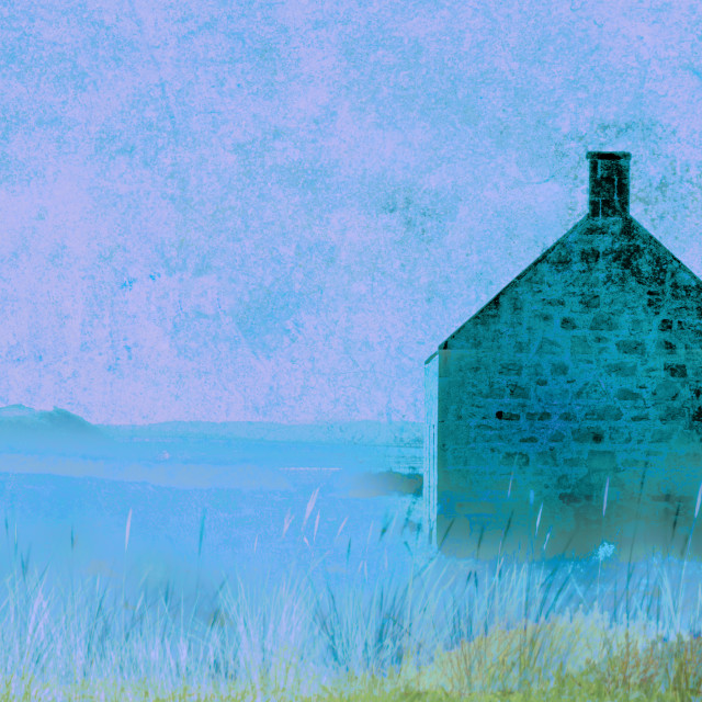 """""""Cottage by the Sea"""" stock image"""