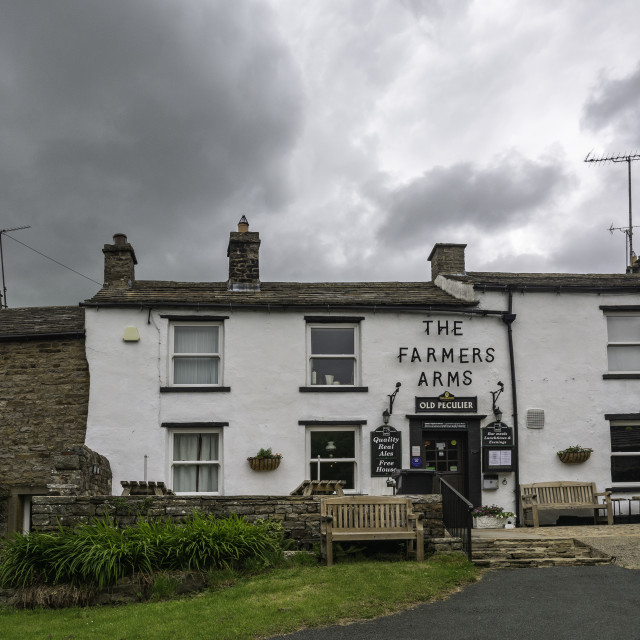 """""""The Farmers Arms, Muker"""" stock image"""
