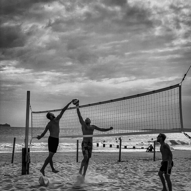 """Beach Volleyball"" stock image"