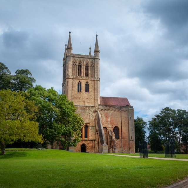 """""""Pershore Abbey in Summer"""" stock image"""