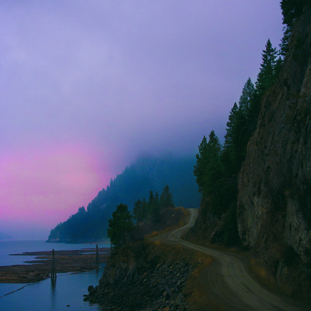 """Mountian Sunset"" stock image"