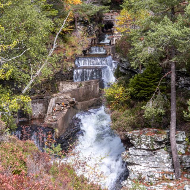 """""""Linn o' Dee Waterfall"""" stock image"""